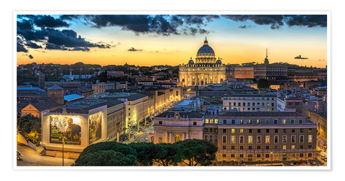 Premium poster Roma St. Peters dome