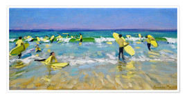 Premium poster  Surf School at St. Ives - Andrew Macara
