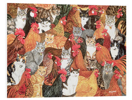 Foam board print  Chicken-Cats - Ditz