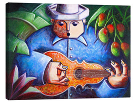 Canvas print  guitar player of Mango Bajito - Oscar Ortiz
