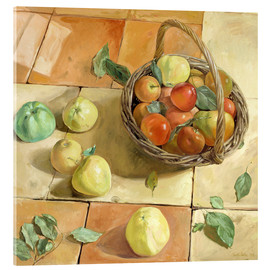 Acrylic print  Still Life apple basket - Timothy Easton