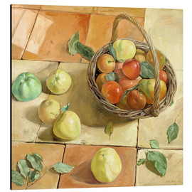 Alu-Dibond  Still Life apple basket - Timothy Easton