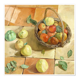 Poster  Still Life apple basket - Timothy Easton