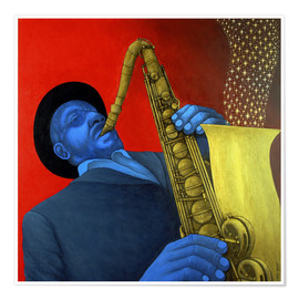 Poster  Ben Webster plays saxophone - Larry Smart