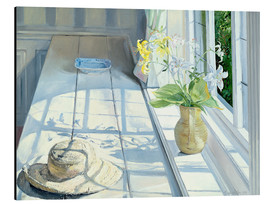 Aluminium print  Still life in front of the window - Timothy Easton