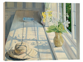 Wood print  Still life in front of the window - Timothy Easton