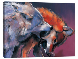 Canvas print  Playing Wolves - Mark Adlington