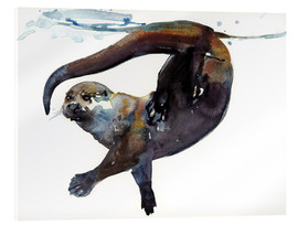 Acrylic glass  Sea otter in the water - Mark Adlington