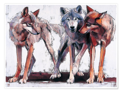 Poster Pack of wolves