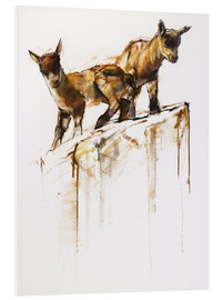 Foam board print  Little goats - Mark Adlington