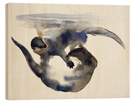 Wood  Playing Otter in the water - Mark Adlington