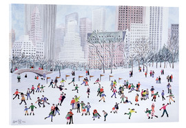 Acrylic glass  Skating Rink, Central Park, New York, 1994 - Judy Joel