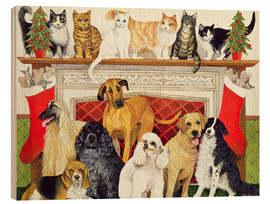 Wood print  Dogs and Cats - Pat Scott