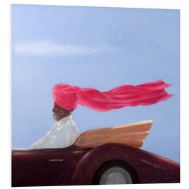 Foam board print  Maharajah on the ride - Lincoln Seligman