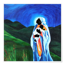 Premium poster  Madonna and Child - Hope for the World, 2008 - Patricia Brintle