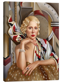Canvas print  The woman in silk - Catherine Abel