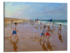 Aluminium print  Flags and reflections, Montalivet - Andrew Macara