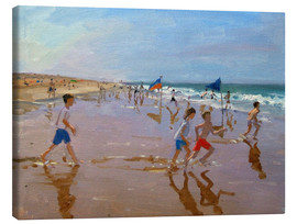 Canvas print  Flags and reflections, Montalivet - Andrew Macara