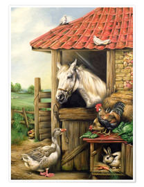 Poster  Farmyard Friends - Carl Donner