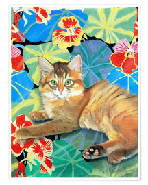 Premium poster Sootsy on the Dufy fabric
