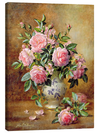 Canvas  A Medley of Pink Roses - Albert Williams