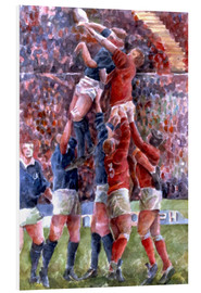 Foam board print  Rugby International, Wales V Scotland - Gareth Lloyd Ball