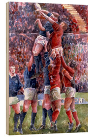 Wood print  Rugby International, Wales V Scotland - Gareth Lloyd Ball