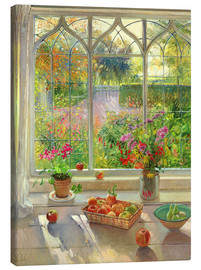 Canvas print  Overlooking the garden - Timothy Easton