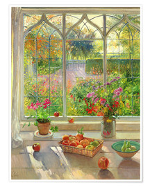 Premium poster  Overlooking the garden - Timothy Easton
