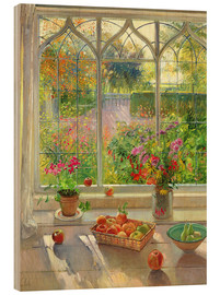 Wood print  Overlooking the garden - Timothy Easton