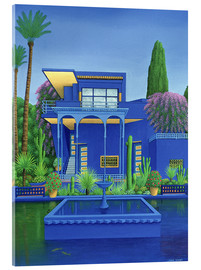 Acrylic glass  Majorelle Gardens, Marrakech - Larry Smart