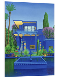 Foam board print  Majorelle Gardens, Marrakech - Larry Smart