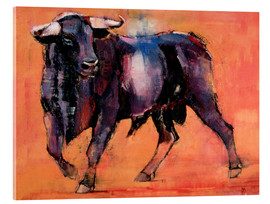 Acrylic glass  Black bull - Mark Adlington