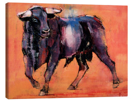 Canvas print  Black bull - Mark Adlington
