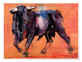 Premium poster  Black bull - Mark Adlington
