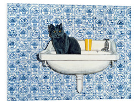 Foam board print  My Bathroom Cat - Ditz
