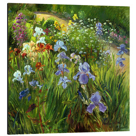 Aluminium print  Flower bed - Timothy Easton