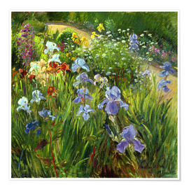 Poster  Flower bed - Timothy Easton