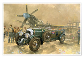 Premium poster Bentley and Spitfire