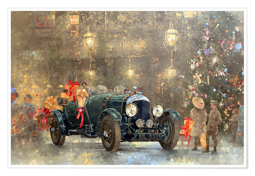 Premium poster Christmas Bentley
