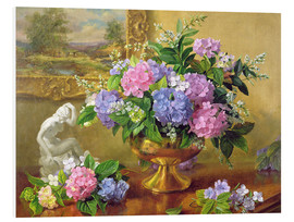 Foam board print  Still Life with hydrangeas and lilacs - Albert Williams