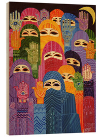 Wood print  The Hands of Fatima, 1989 - Laila Shawa