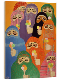 Wood print  The Impossible Dream, 1988 - Laila Shawa