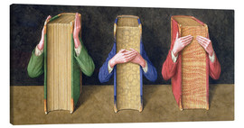 Canvas print  Three Wise Books, 2005 - Jonathan Wolstenholme