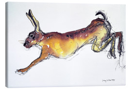 Canvas  Jumping Hare - Lucy Willis