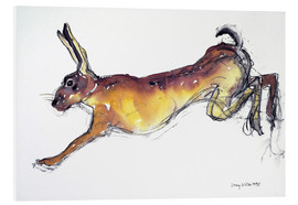 Foam board print  Jumping Hare - Lucy Willis