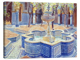 Canvas print  The blue fountain - Lucy Willis
