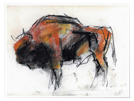 Poster Sketch of a bull