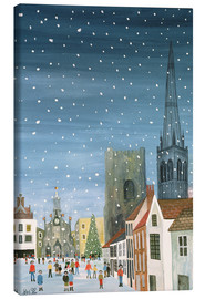 Canvas print  Chichester Cathedral, A Snow Scene - Judy Joel