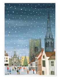 Poster  Chichester Cathedral, A Snow Scene - Judy Joel